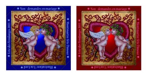 Badge 40mm Cupidon & Bacchus