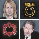 Diptyque Kurt Cobain & Leonard Cohen