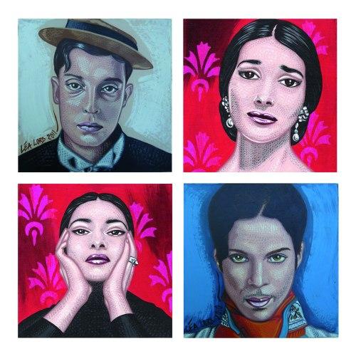Portraits de 15x15cm chaque