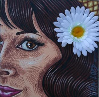 Jeune Fille en Fleurs - 2000/2006 - 25x25 cm