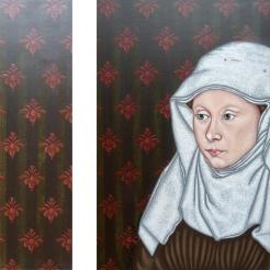 Madame de Flémalle - 2009 - 70x65 cm - Diptyque