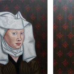 Madame Van der Weyden - 2009 - 70x65 cm - Diptyque