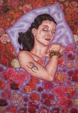 Rosalie pour la vie - 2000 - 100x70 cm