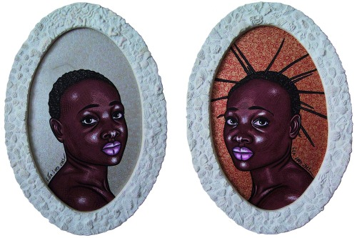 """Sisters"" 1&2 - 2001 - 68x48 cm"