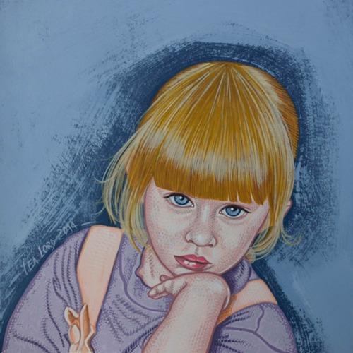 Lisa - acrylique sur papier - 24x24 cm