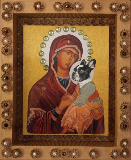 Vierge à l'Enfant N°4 - 2013 - 28x23 cm